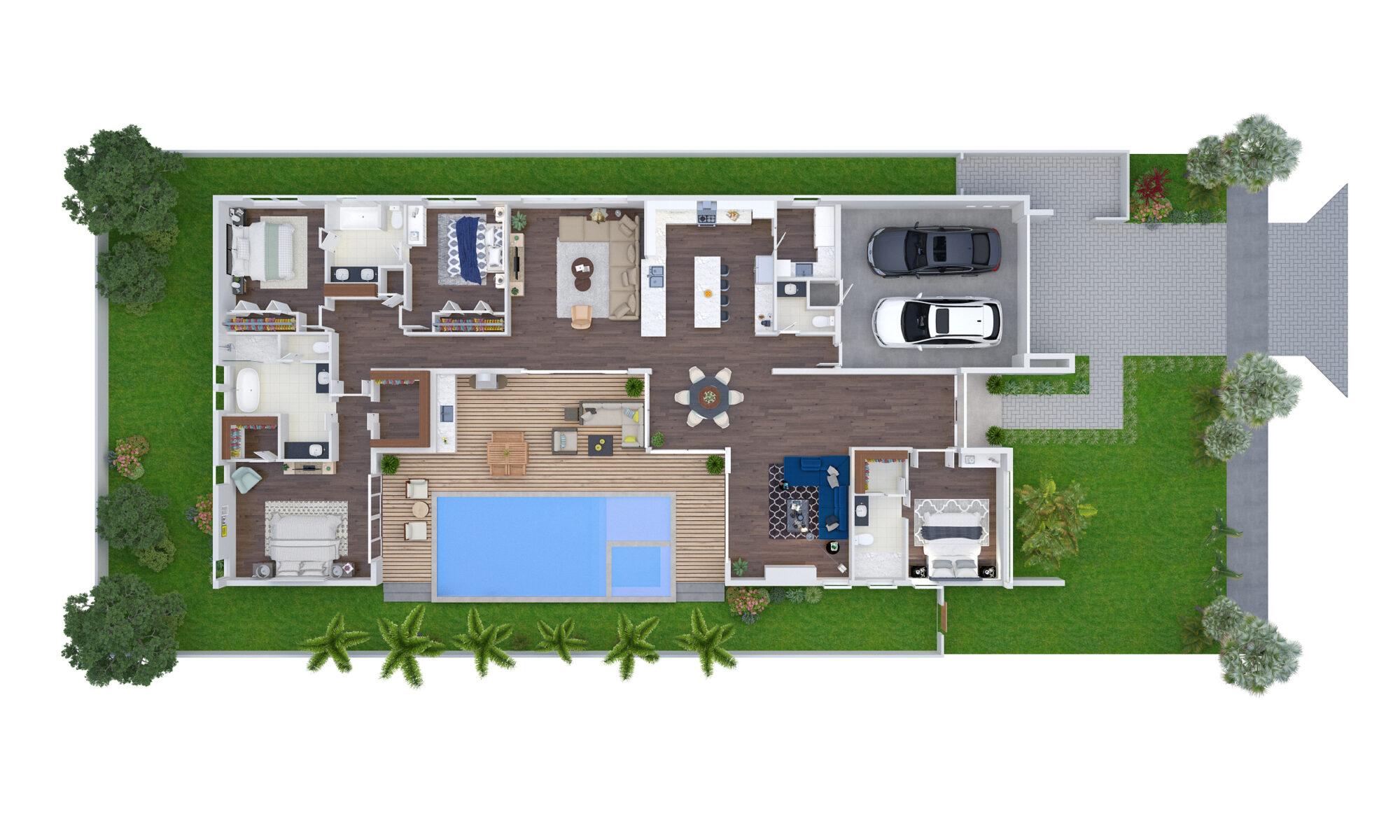 513 N E 9 Avenue, Rendering 2, Floor and Site Plan, Jul 12, 2018
