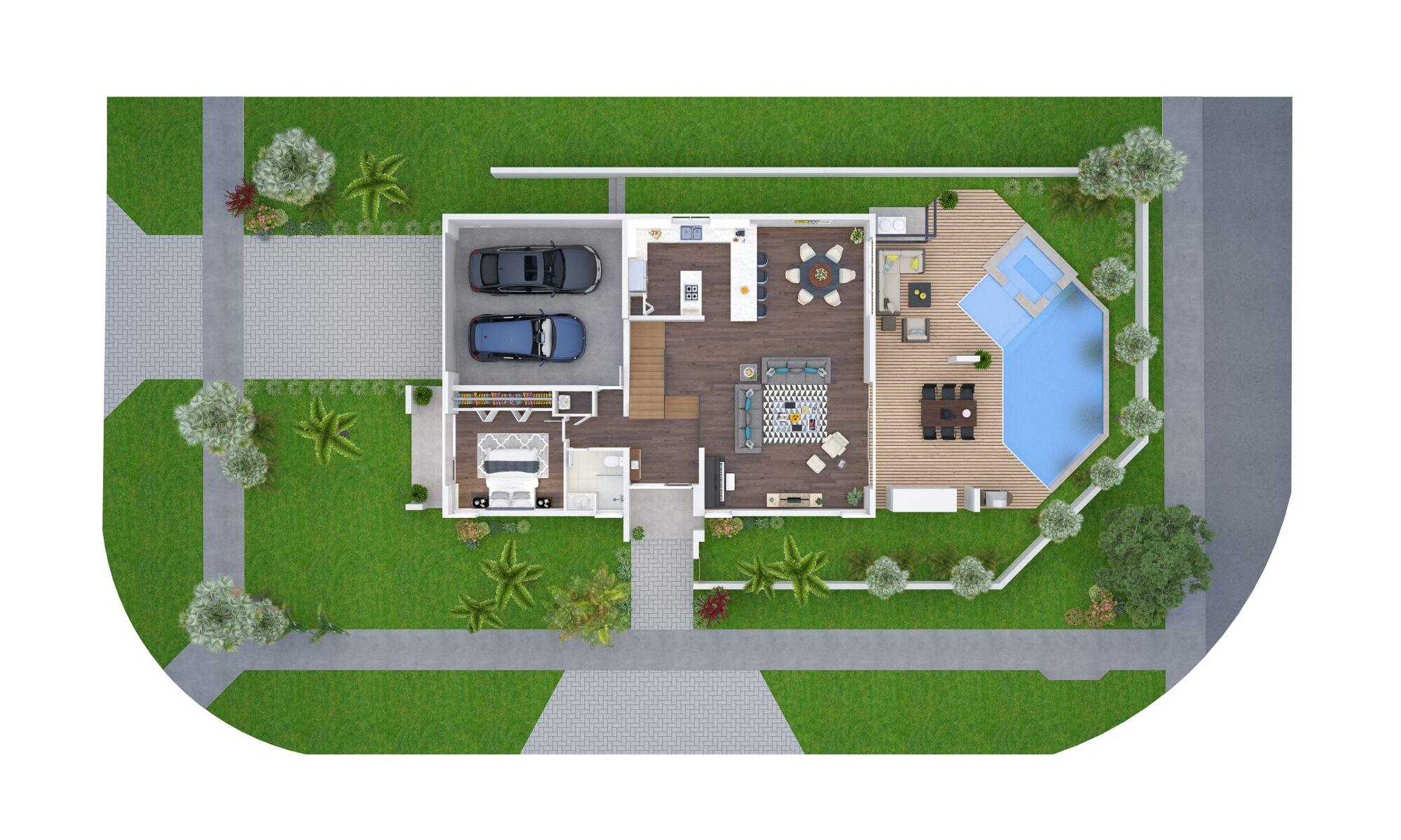 544 N Victoria Park Road, Rendering 2, First Floor Plan, July 9, 2018