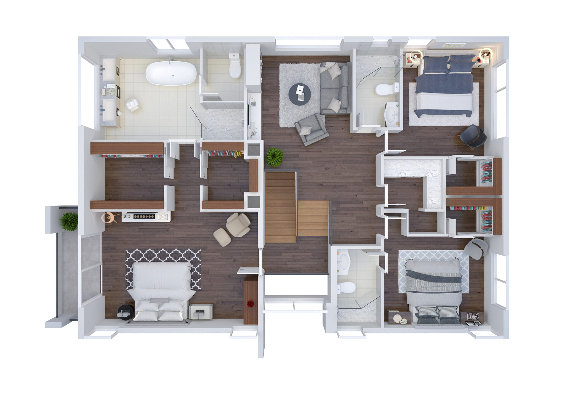 544 N Victoria Park Road, Rendering 3, Second Floor Plan, July 9, 2018