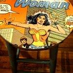 Pop Cycle 4th Ave Tucson AZ Wonder Woman table