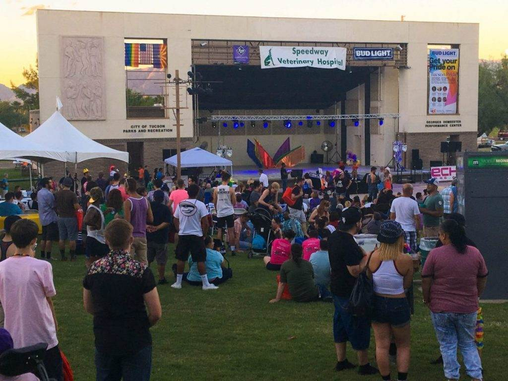 A Huge Crowd In Front of the Gay Pride Stage at Pride in the Park