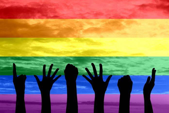 Gay Pride Parade 2017 in Tucson, Arizona.