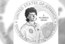 Sally Ride image on quarter