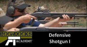 Defensive shotgun training
