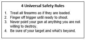 4 Universal Gun Safety Rules