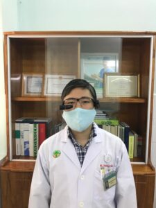 Dr. Dang Do Thanh Can wearing Vuzix Smart Glasses.