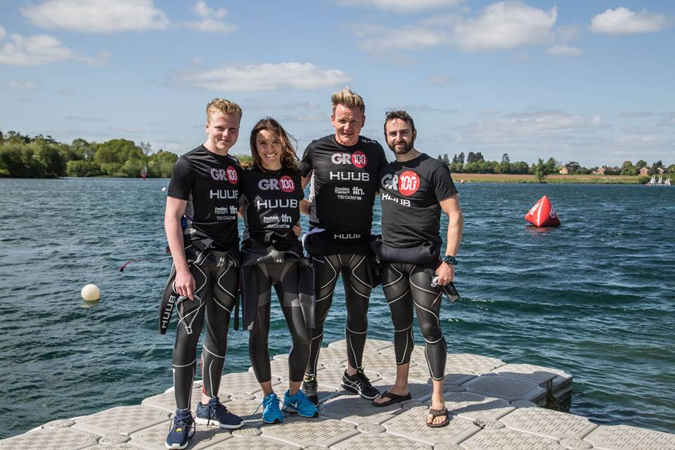 Gordon Ramsay and his team of triathletes challenge you to take on a triathlon with #TeamRamsay. Facebook)