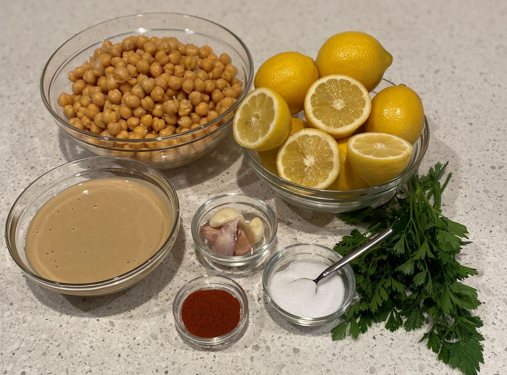 hummus with fresh ingredients