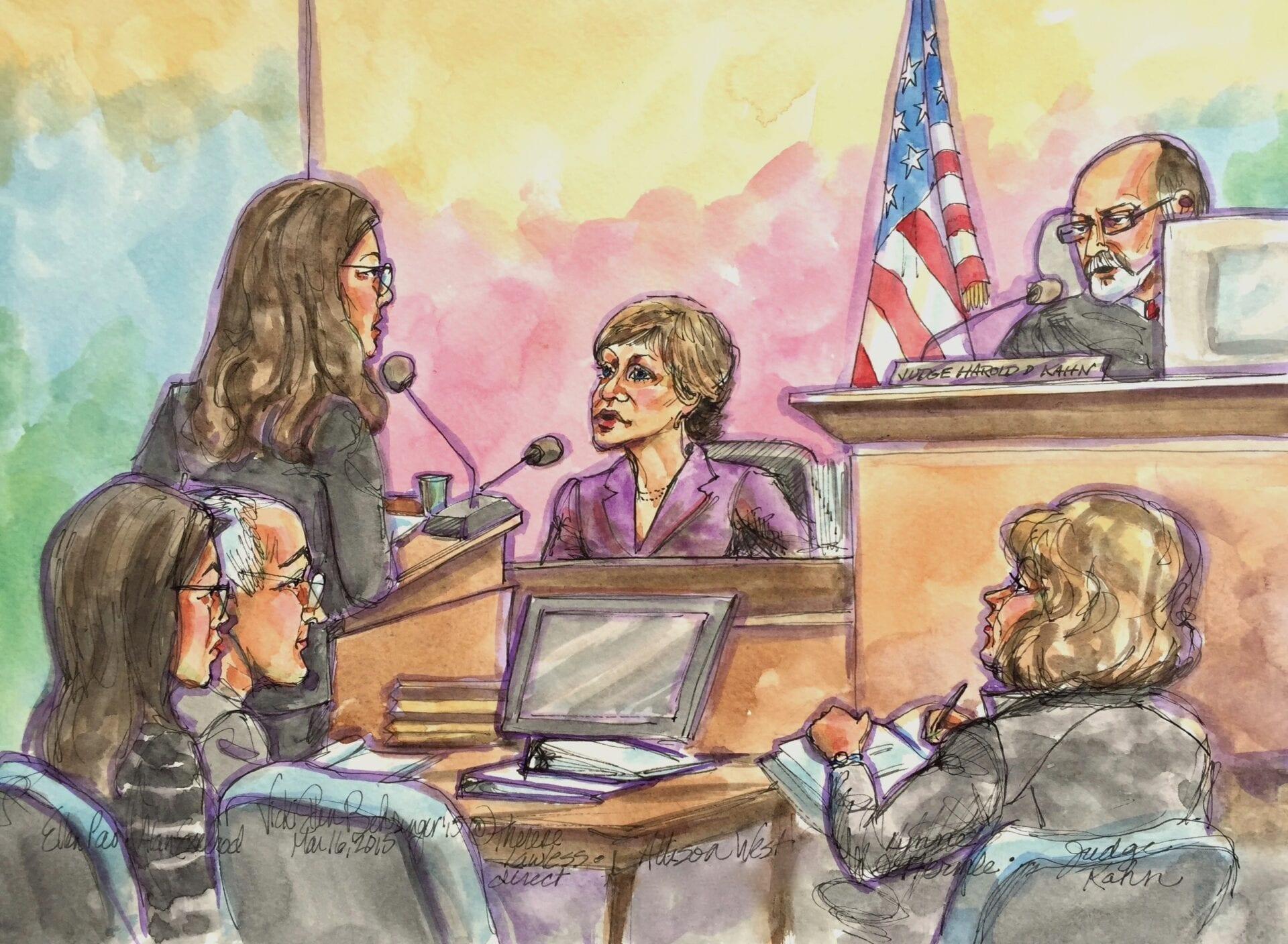 Allison West testifying in Pao v. Kleiner Perkins regarding the employer's investigation.