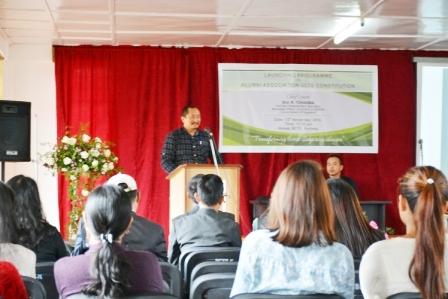 President Addressing the Alumni Association