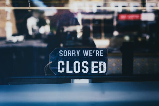 Closed business that didn't use invoice factoring.