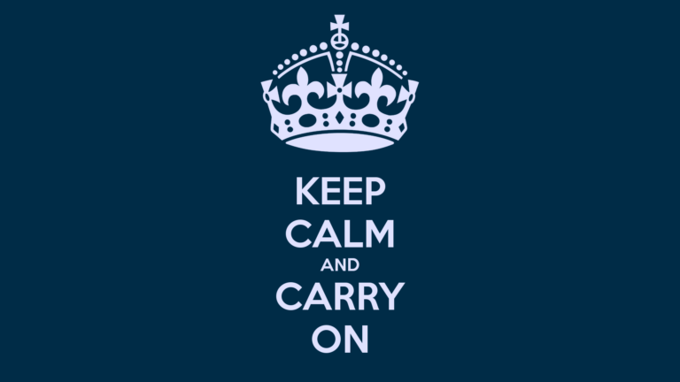 The VUL Motto: Keep Calm And Carry On