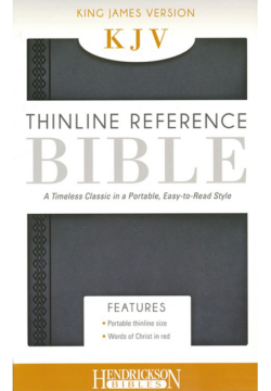 KJV Thinline Reference Bible, Steel Gray