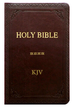 KJV Holy Bible Medium, Brown Index PU