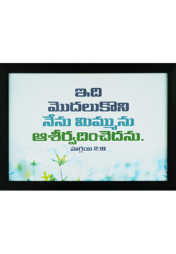 From This Day On I Will Bless You. Haggai 2:19 (Telugu)