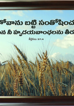 Take Delight in The Lord Ps 37.4 (Telugu)