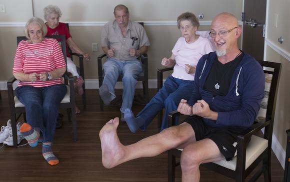 Chair Yoga helps seniors retain mobility and stability