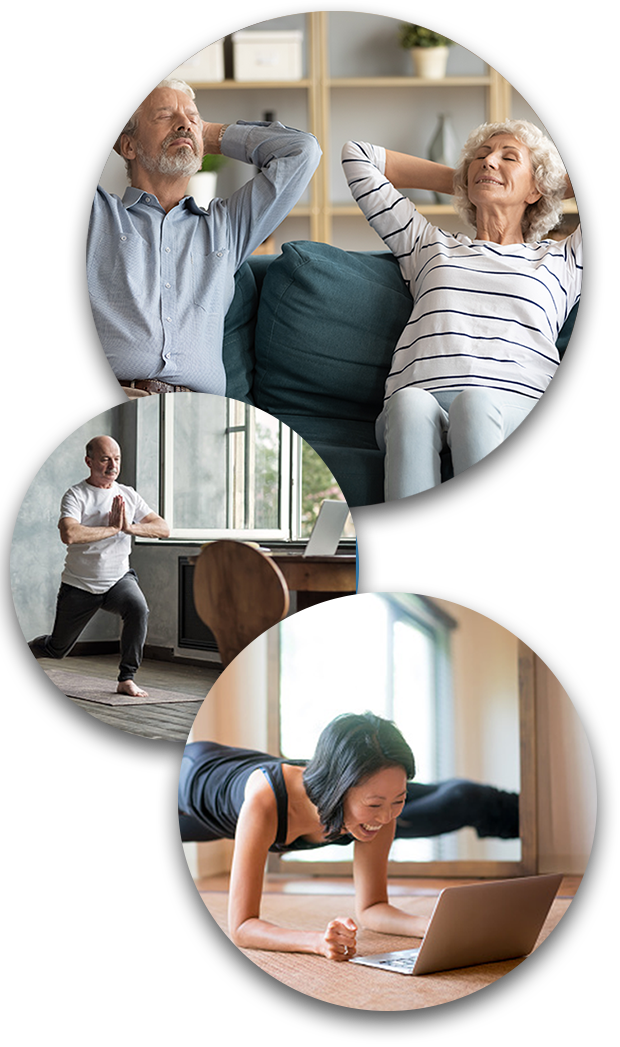 People Enjoying Virtual Yoga