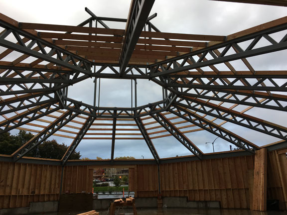 The roof goes up
