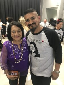 Maestro Duarte with Dolores Huerta duirng her visit to our School