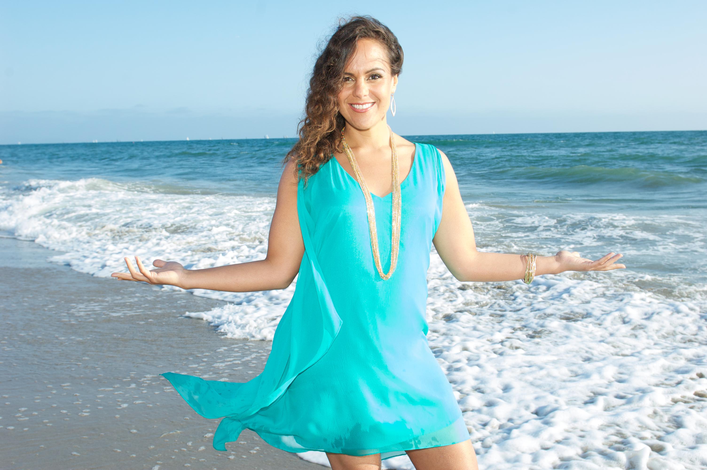 Jen Fanning on Beach