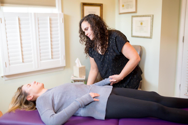 Woman receiving Zero Balancing Massage from Edgy ZEN Spa