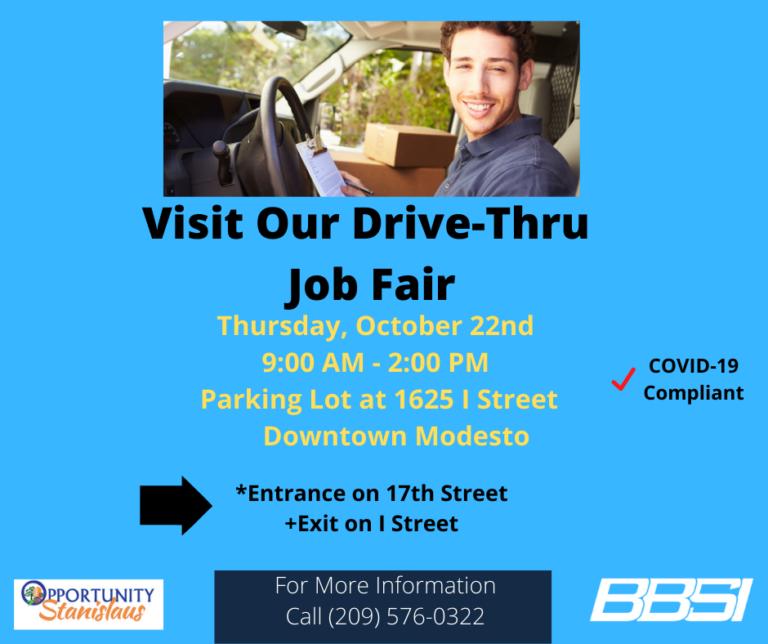 Drive-thru job fair flyer
