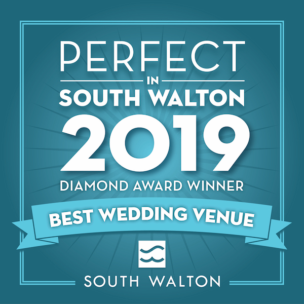 Perfect in South Walton 2019, Diamond Award Winner, Best Wedding Venue, The Chapel at Seaside