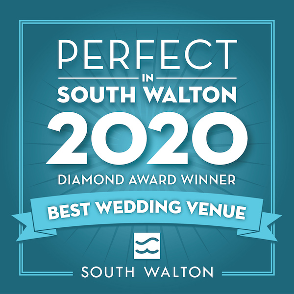 Perfect in South Walton 2020, Diamond Award Winner, Best Wedding Venue, The Chapel at Seaside