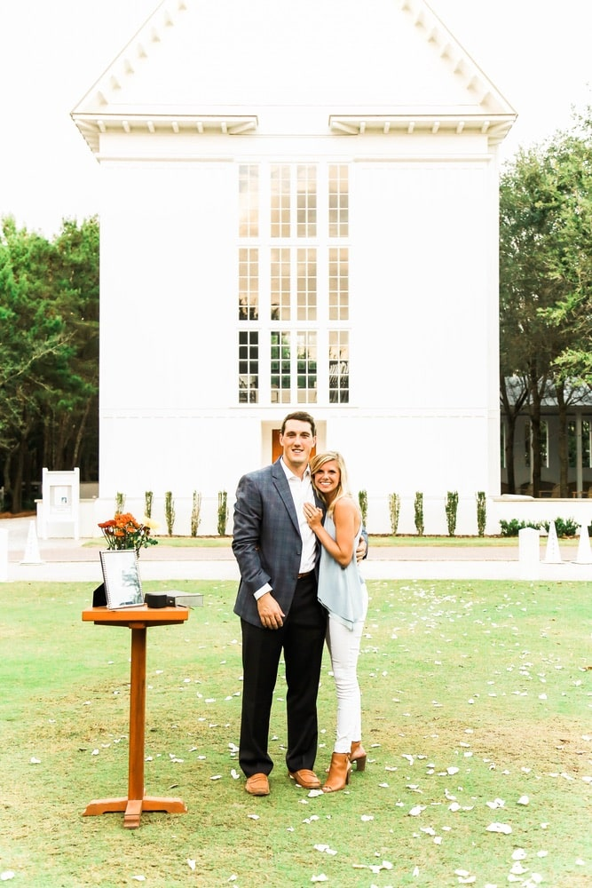 Lucy & Patrick Proposal at The Chapel at Seaside, Photography by Brenna Kneiss Photo Co.