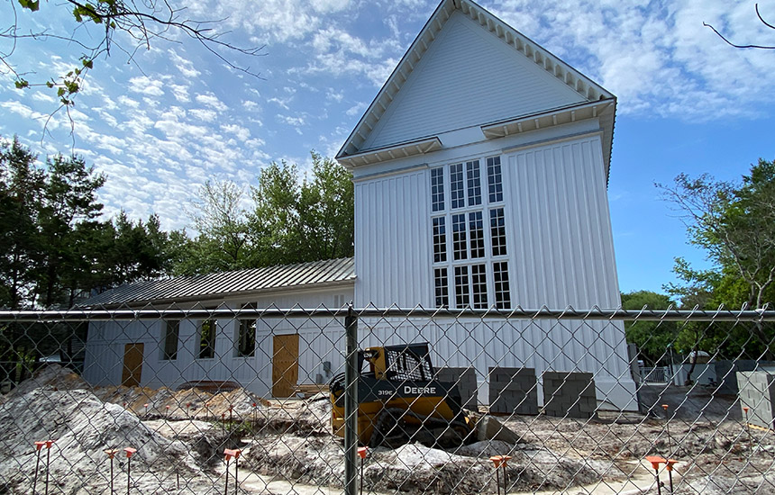 The Chapel at Seaside - Garden of Memories Construction