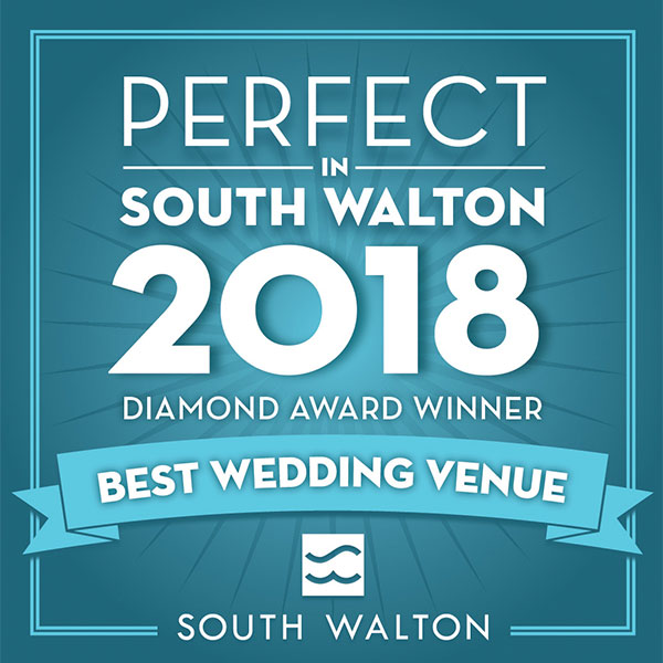 Perfect in South Walton 2018, Diamond Award Winner, Best Wedding Venue, The Chapel at Seaside