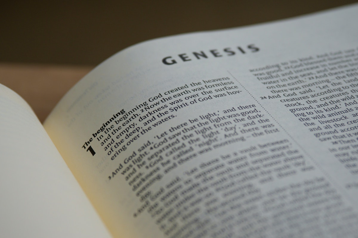 Holy Bible open to book of Genesis on The Chapel at Seaside Blog