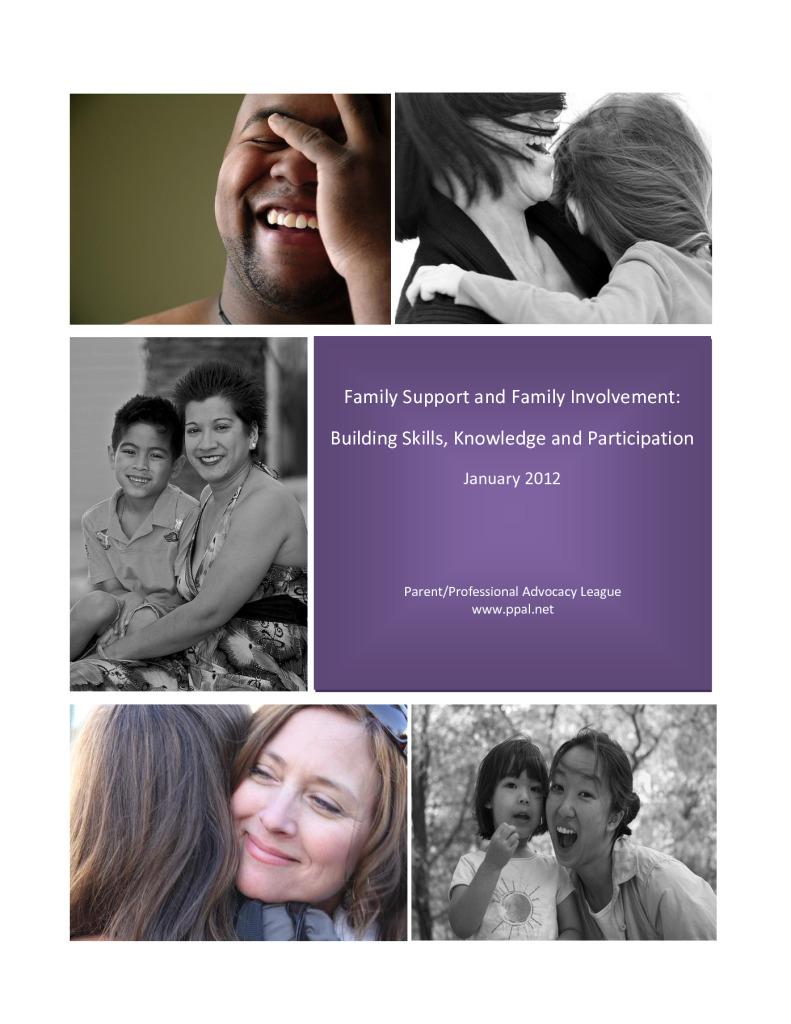 Family Support and Family Involvement: Building Skills, Knowledge and Participation