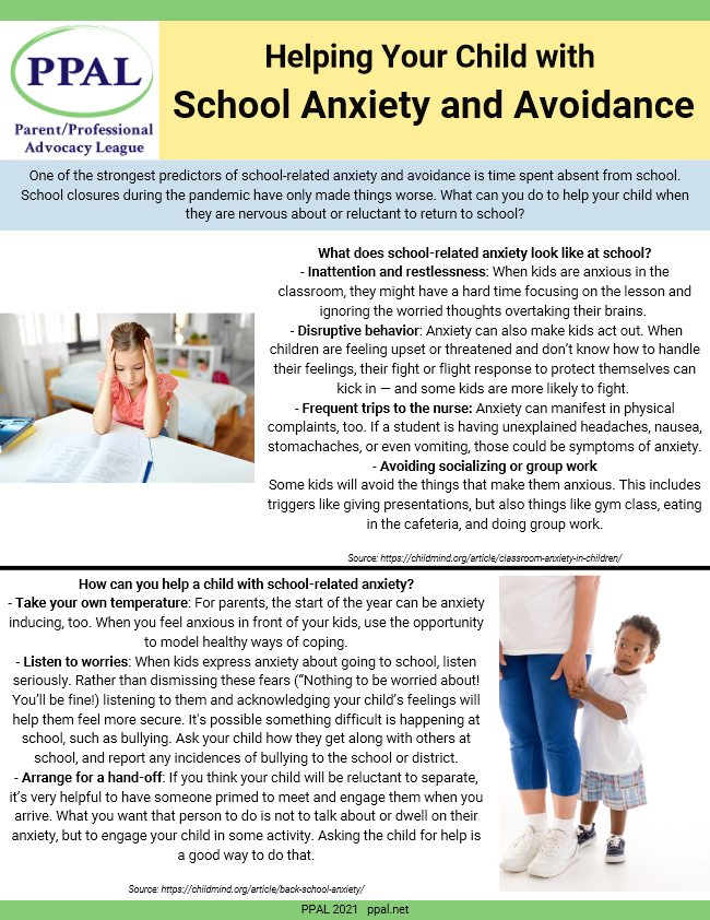 Helping Your Child with School Anxiety and Avoidance