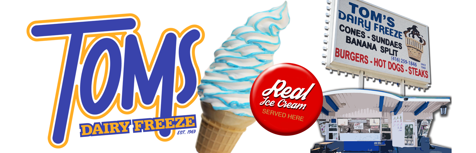 Toms Dairy Freeze Logo