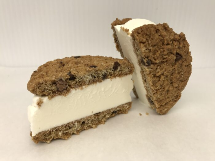 Two Dad's Oatmeal Cookies With Vanilla Ice Cream