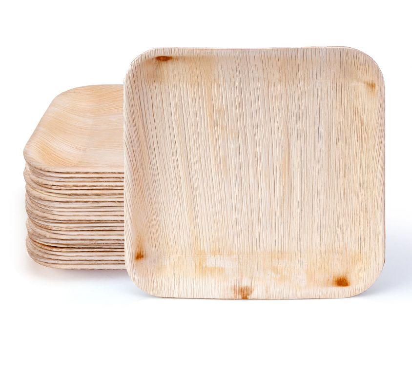 10″ Square Palm Leaf Plates