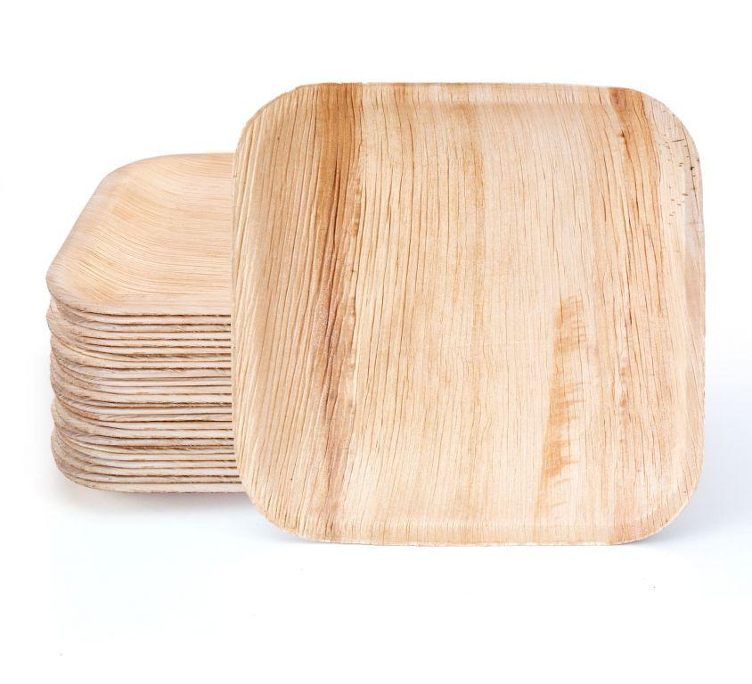 7″ Square Palm Leaf Plates