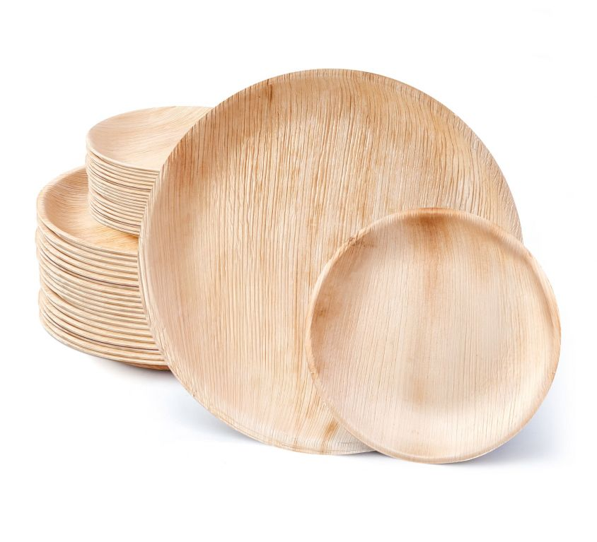 10″ and 7″ Round Palm Leaf Set