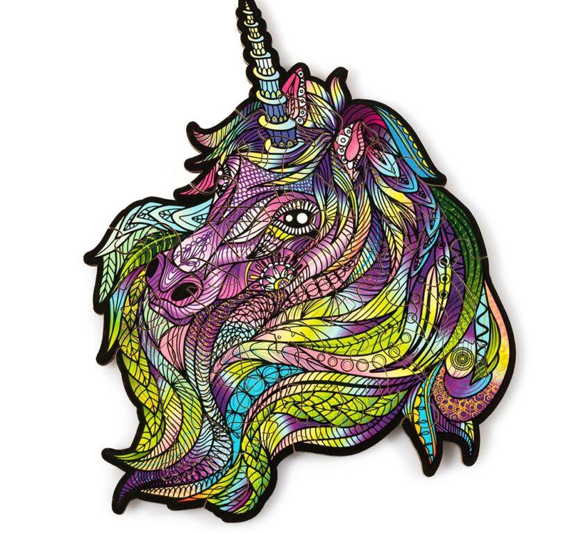 Purple Wind Unicorn (mini color puzzle)