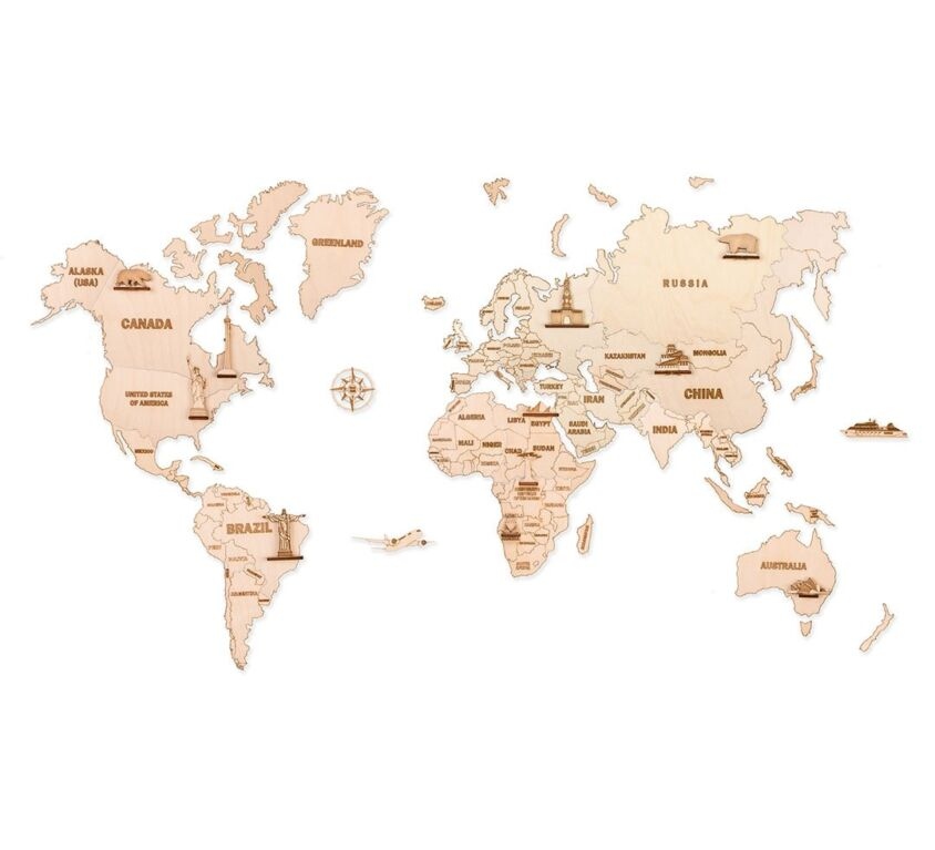 World Map L size