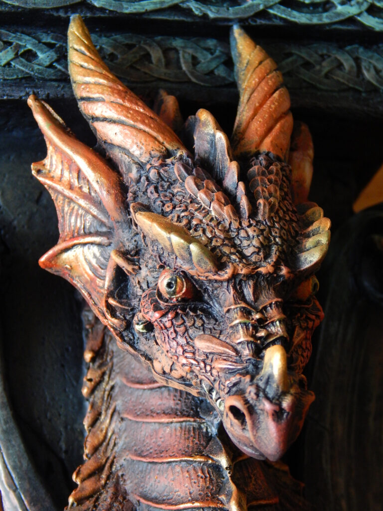 detailed picture of the head of a dragon