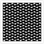 One Hundred Ninety Six White Triangles on Black