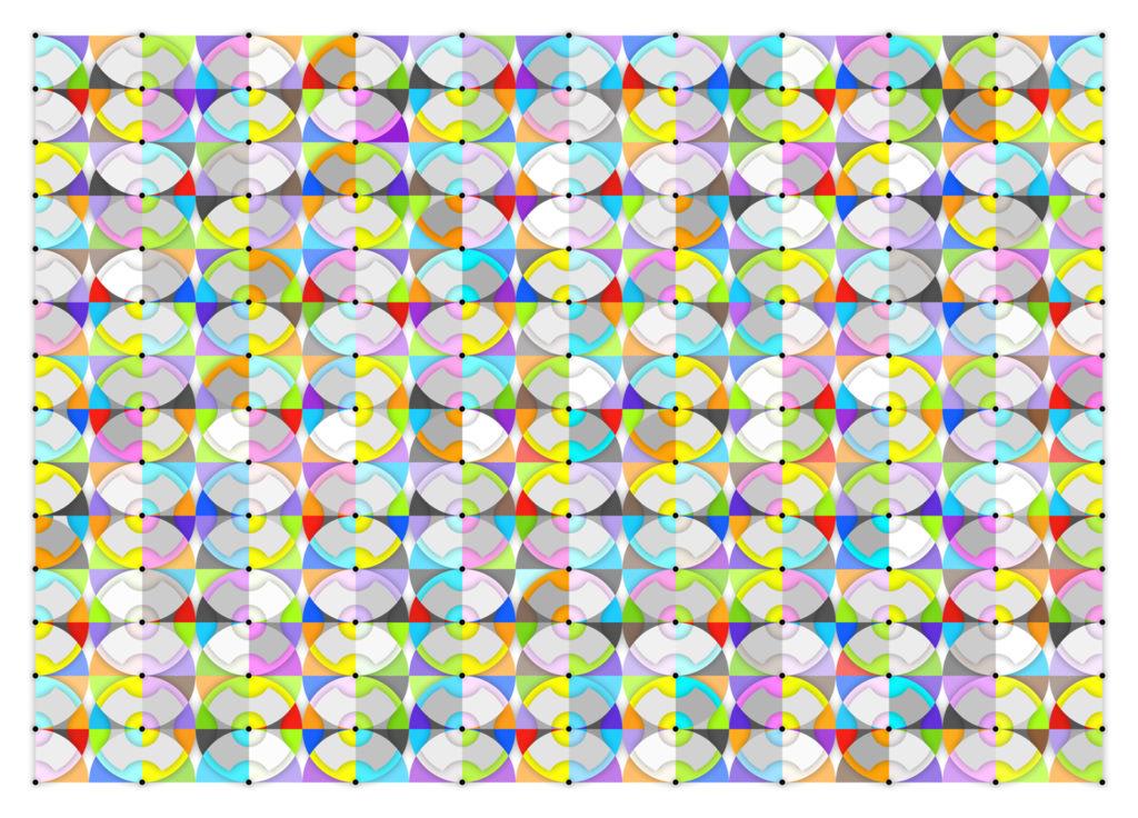 Quadrans Circuli6, 2014; Epson GS Ultrachrome Print on Canvas, 46 x 64 inches, edition of 3
