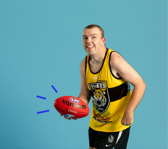 Hayden, footy player and sports fanatic