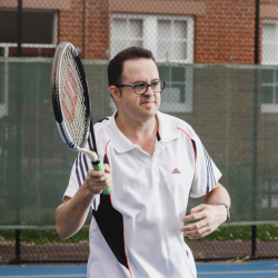 Andrew Playing Tennis