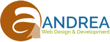 Andrea Studio Web Design & Development Logo horizontal
