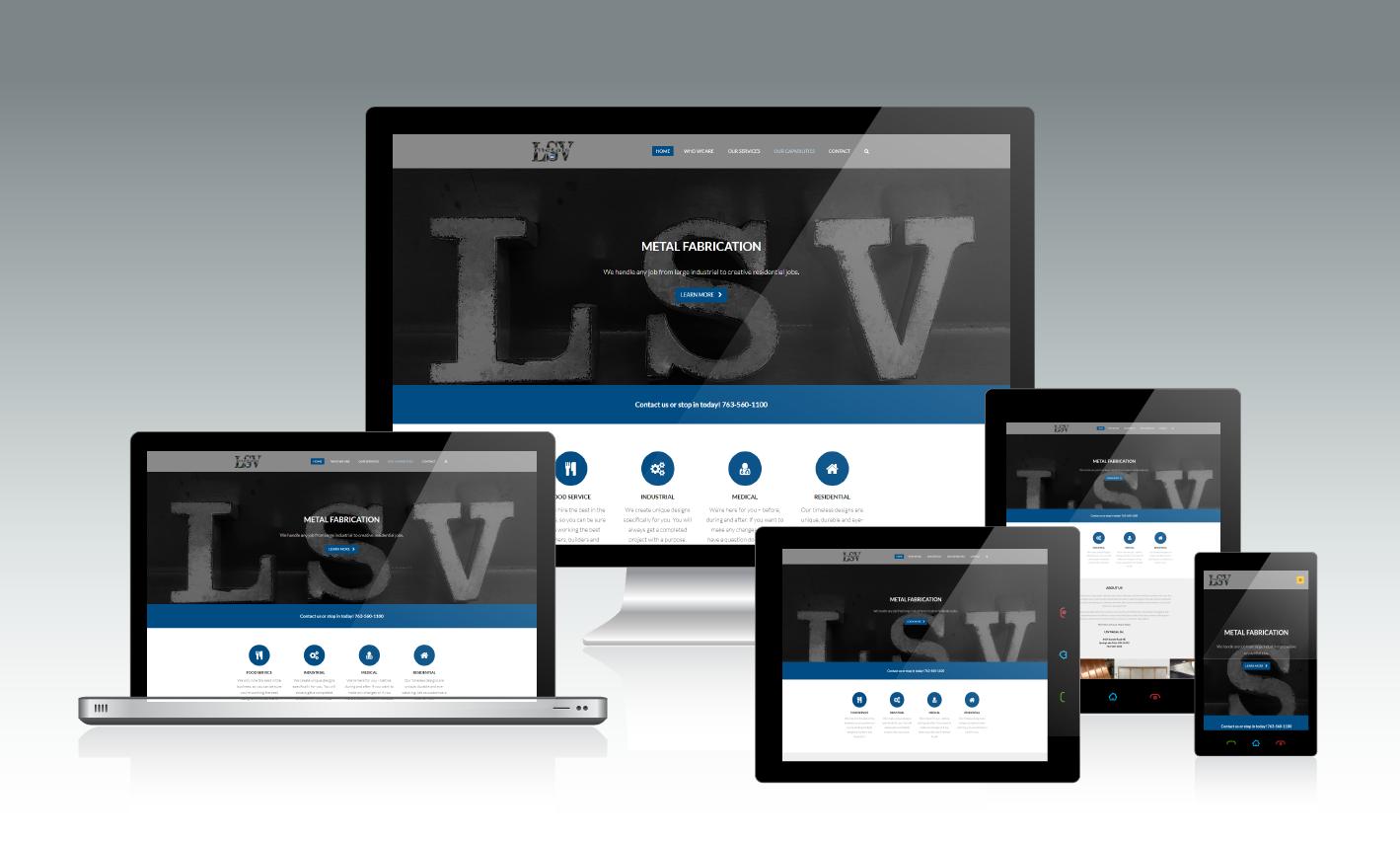 LSV Metals Responsive Website Design