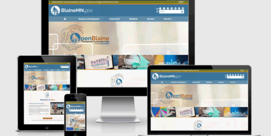 OpenBlaine Responsive Website Design
